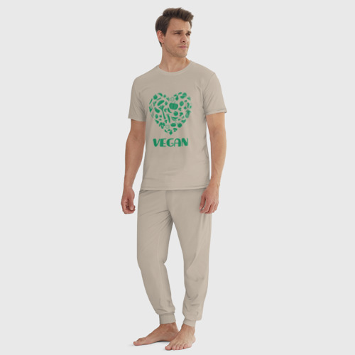 Мужская пижама хлопок Vegan Фото 01