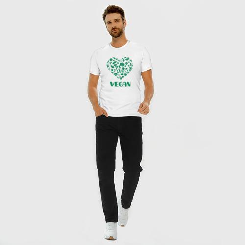Мужская футболка хлопок Slim Vegan Фото 01