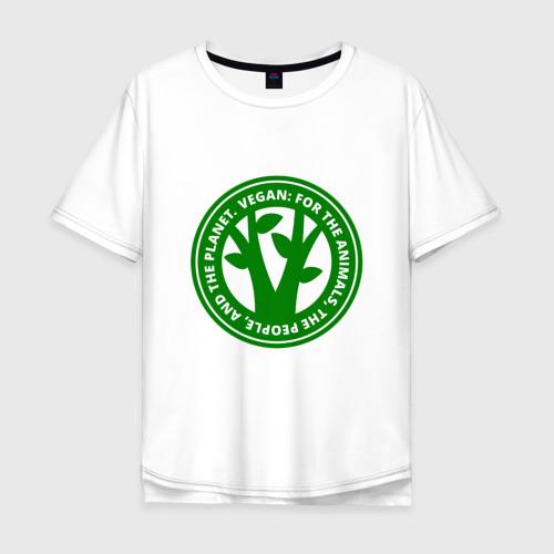 Мужская футболка хлопок Oversize Веган