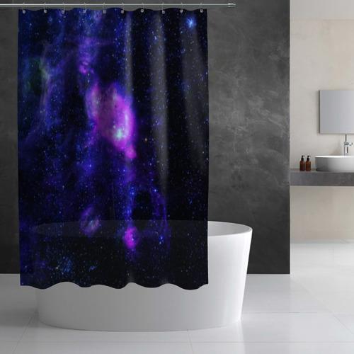 Штора 3D для ванной Космос Фото 01