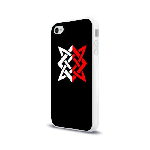 Чехол для Apple iPhone 4/4S силиконовый глянцевый РУСЬ - РУНЫ Фото 01