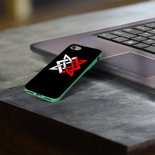 Чехол для Apple iPhone 8 силиконовый глянцевый РУСЬ - РУНЫ Фото 01