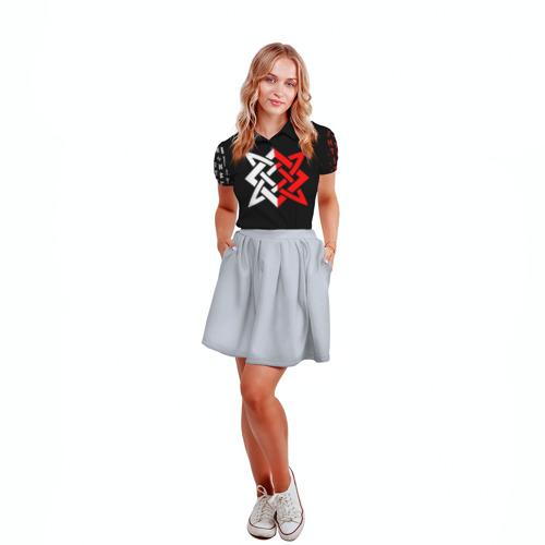 Женская рубашка поло 3D РУСЬ - РУНЫ Фото 01