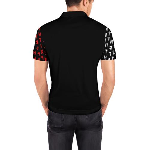 Мужская рубашка поло 3D РУСЬ - РУНЫ Фото 01
