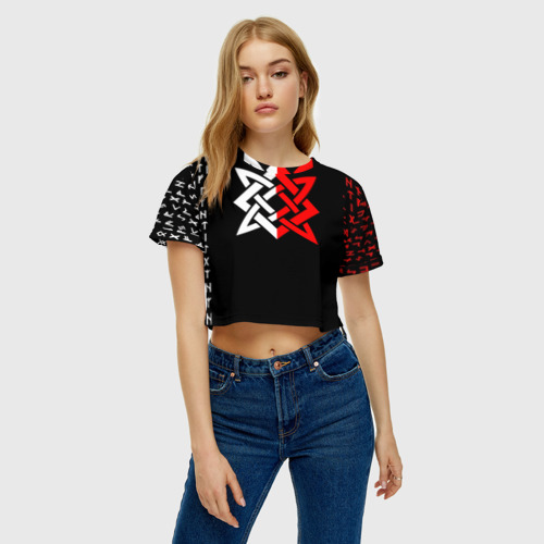 Женская футболка Cropp-top РУСЬ - РУНЫ Фото 01