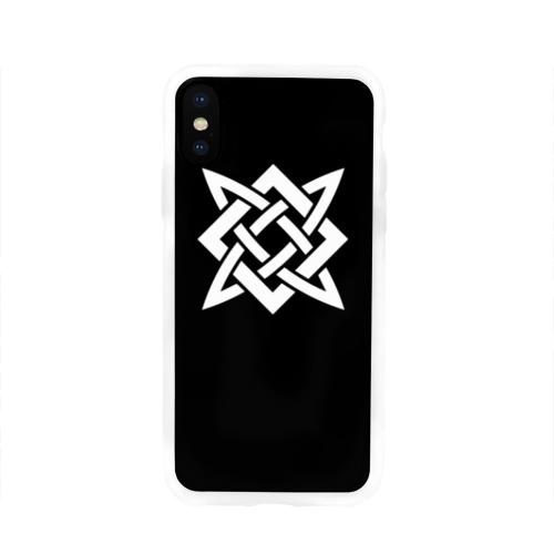 Чехол для Apple iPhone X силиконовый глянцевый РУСЬ - РУНЫ Фото 01