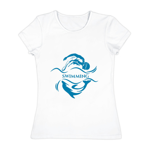 Женская футболка хлопок Плавание