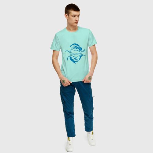Мужская футболка хлопок Плавание Фото 01