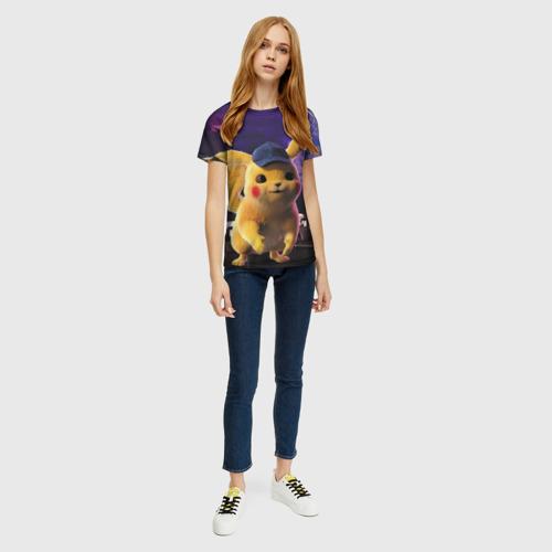 Женская футболка 3D Пикачу Детектив Фото 01