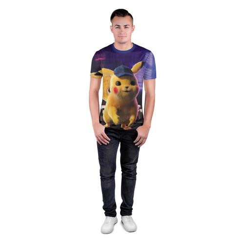 Мужская футболка 3D спортивная Пикачу Детектив Фото 01