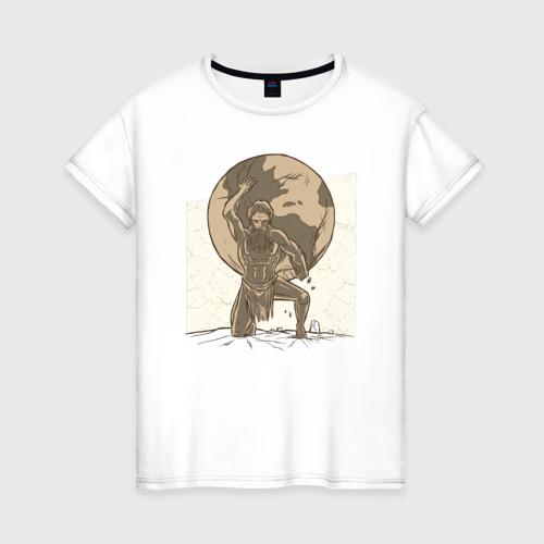 Женская футболка хлопок Атлас