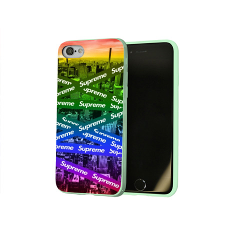 Чехол для Apple iPhone 8 силиконовый глянцевый SUPREME Фото 01
