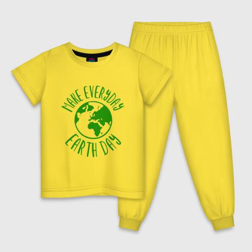 Детская пижама хлопок День Земли Фото 01