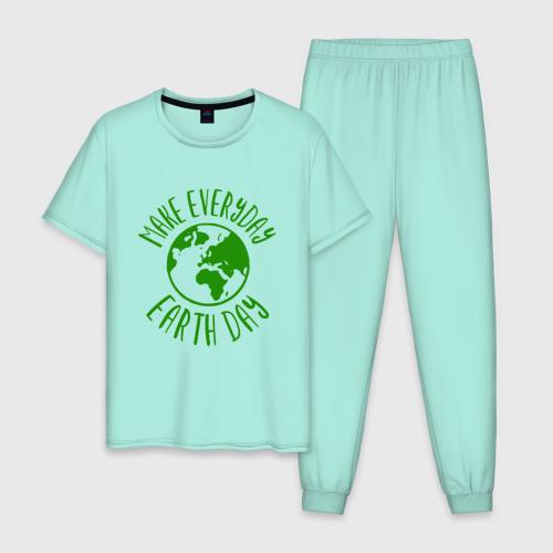 Мужская пижама хлопок День Земли Фото 01