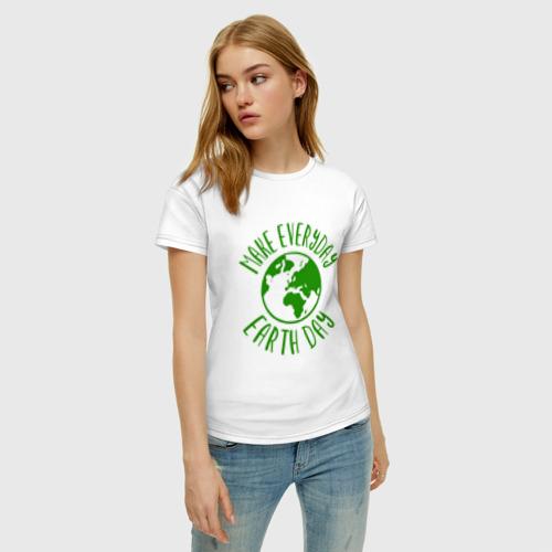 Женская футболка хлопок День Земли Фото 01