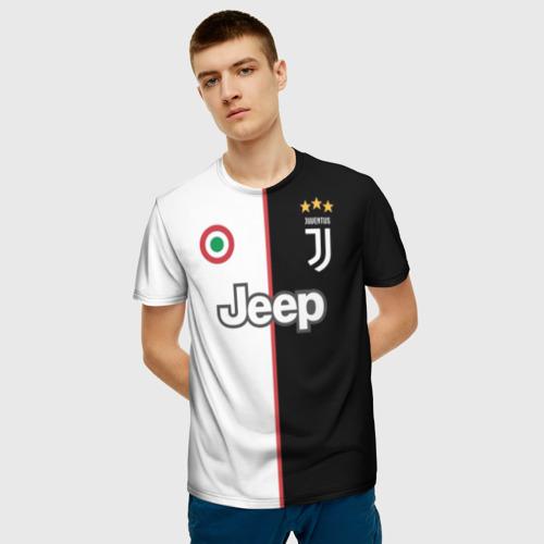 Мужская футболка 3D Ronaldo Juventus Home 19/20 Фото 01