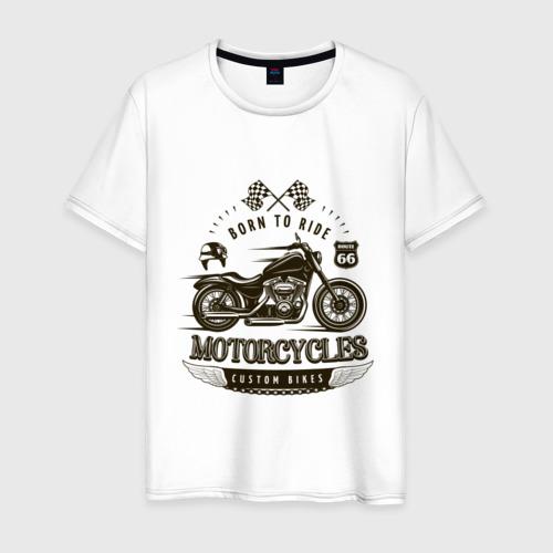 Мужская футболка хлопок Custom bikes Фото 01