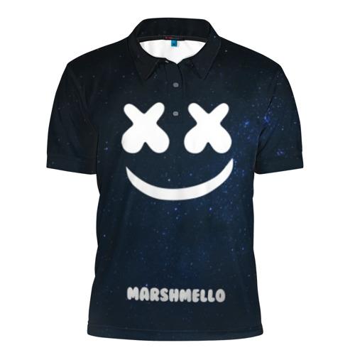 Мужская рубашка поло 3D Marshmello Cosmos