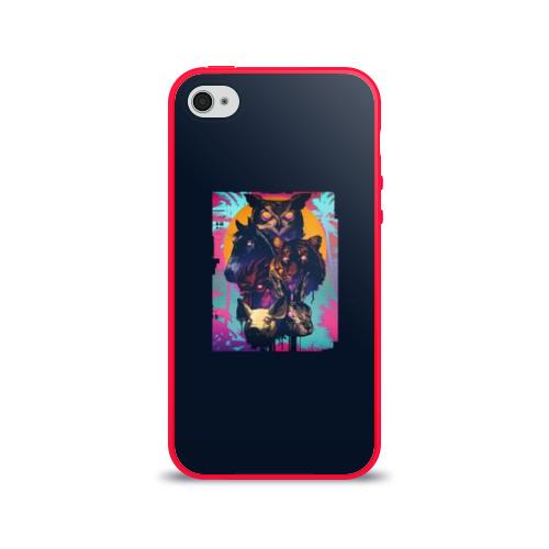 Чехол для Apple iPhone 4/4S силиконовый глянцевый Hotline Miami Фото 01