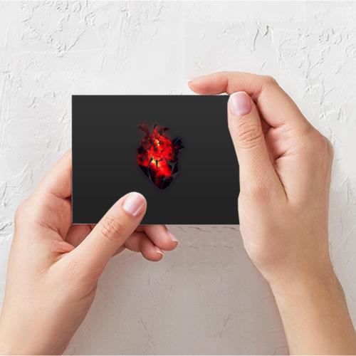 Поздравительная открытка Space Heart Фото 01