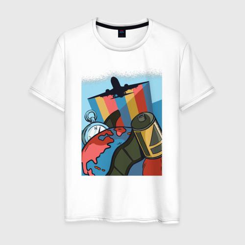 Мужская футболка хлопок Туризм