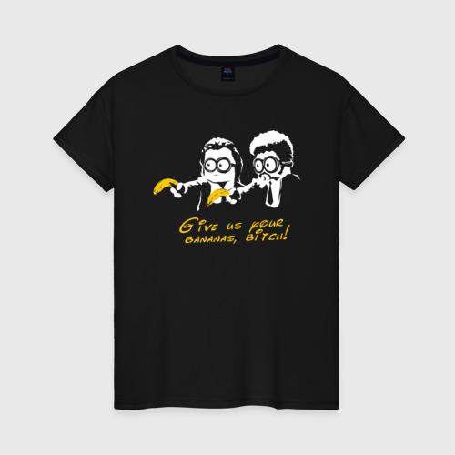 Женская футболка хлопок Банановая мафия Фото 01
