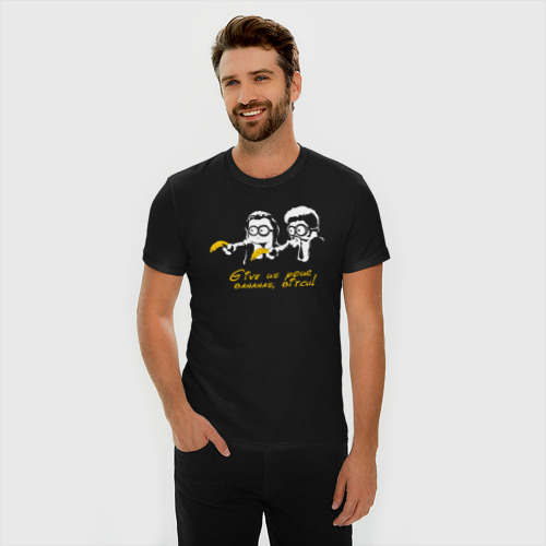 Мужская футболка хлопок Slim Банановая мафия Фото 01