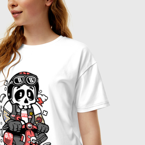 Женская футболка хлопок Oversize Scooter Фото 01
