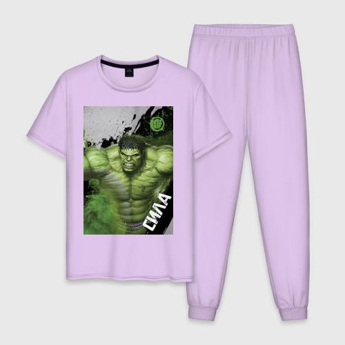 Мужская пижама хлопок Халк L фото