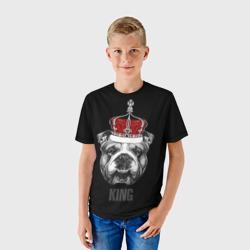 Английский бульдог с короной