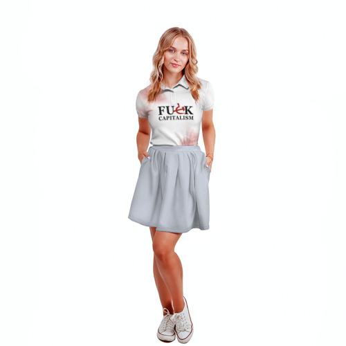 Женская рубашка поло 3D Не люблю капитализм Фото 01