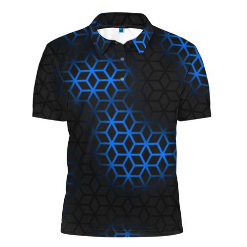Мужская рубашка поло 3D  Фото 01, СТАЛЬНАЯ БРОНЯ РОМБАМИ