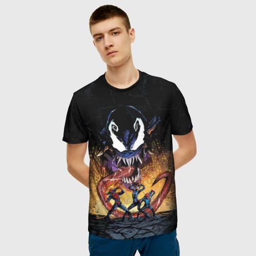 Мужская футболка 3D Venom city Фото 01