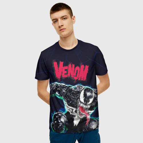 Мужская футболка 3D Веном Фото 01