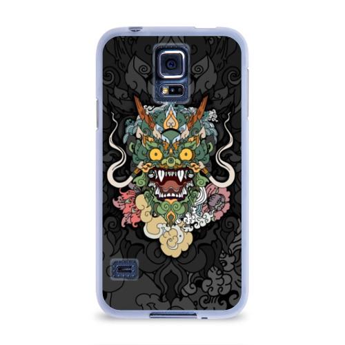 Чехол для Samsung Galaxy S5 силиконовый Дракон Фото 01