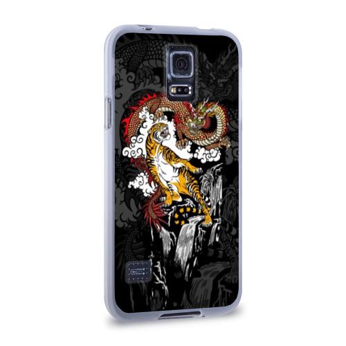 Чехол для Samsung Galaxy S5 силиконовый  Фото 02, Тигр и дракон