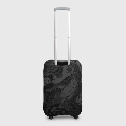 Чехол для чемодана 3D Тигр и дракон Фото 01