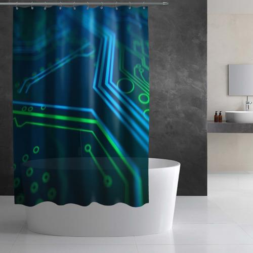 Штора 3D для ванной ПРОГРАММИСТ Фото 01