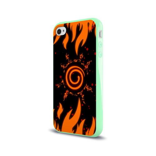 Чехол для Apple iPhone 4/4S силиконовый глянцевый Наруто Печать 2 Фото 01