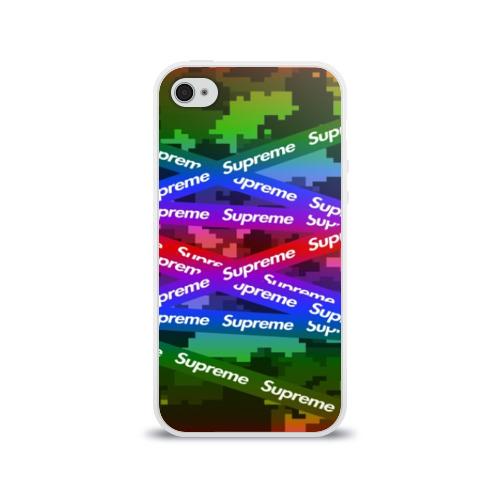 Чехол для Apple iPhone 4/4S силиконовый глянцевый Supreme NEON Фото 01