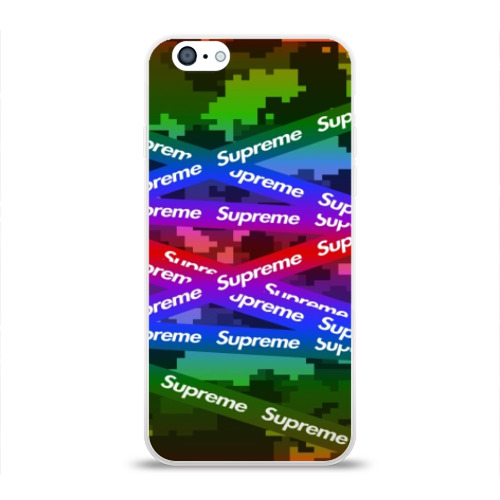 Чехол для Apple iPhone 6 силиконовый глянцевый Supreme NEON Фото 01