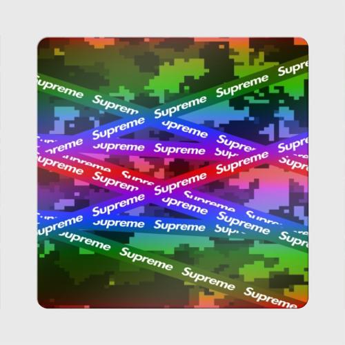 Магнит виниловый Квадрат Supreme NEON Фото 01