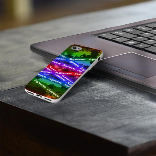 Чехол для Apple iPhone 8 силиконовый глянцевый Supreme NEON Фото 01