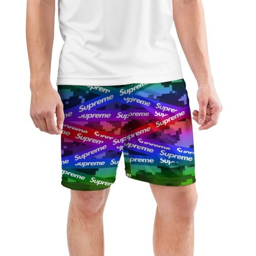 Мужские шорты 3D спортивные Supreme NEON Фото 01