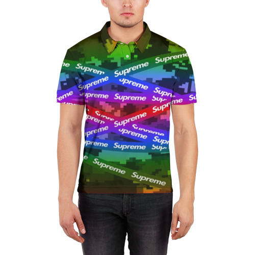 Мужская рубашка поло 3D Supreme NEON Фото 01