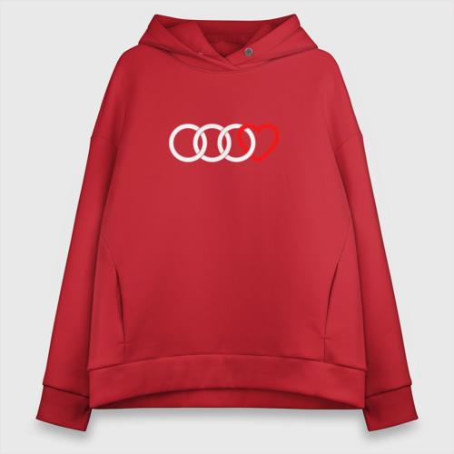 Женское худи Oversize хлопок Audi Фото 01
