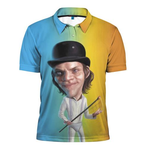 Мужская рубашка поло 3D Заводной апельсин