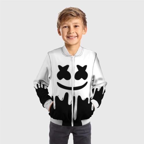 Детский бомбер 3D MELLO BLACK x WHITE Фото 01