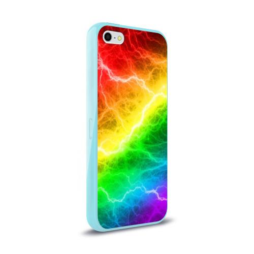 Чехол для iPhone 5/5S глянцевый  RAINBOW THUNDER Фото 01