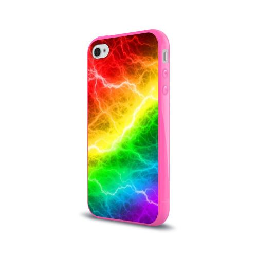 Чехол для Apple iPhone 4/4S силиконовый глянцевый  RAINBOW THUNDER Фото 01